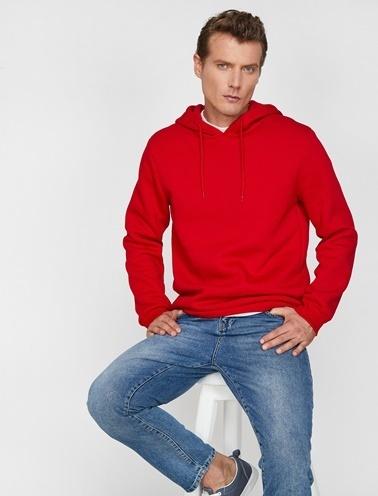 Koton Sweatshirt Kırmızı